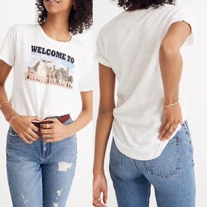 Madewell large white graphic t-shirt